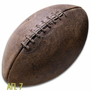 American Football made of genuine leather.