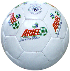 ariel Soccer Ball with a personalized note